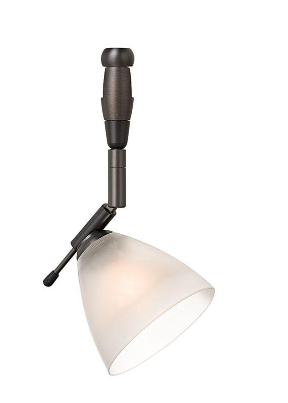LBL Lighting Mini-Dome I Swivel I Frost LED Fusion Jack 1 Light Track