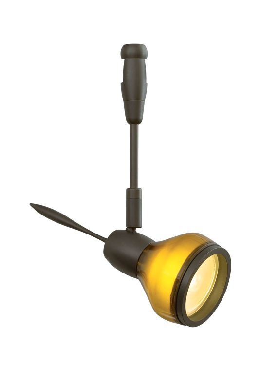 "LBL Lighting Vent LED Fusion Jack 1 Light Track Head Bronze with 6"""