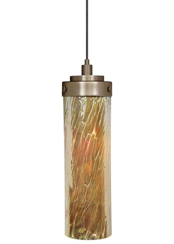 LBL Lighting Max Tortoise LED Monopoint 1 Light Track Pendant Bronze