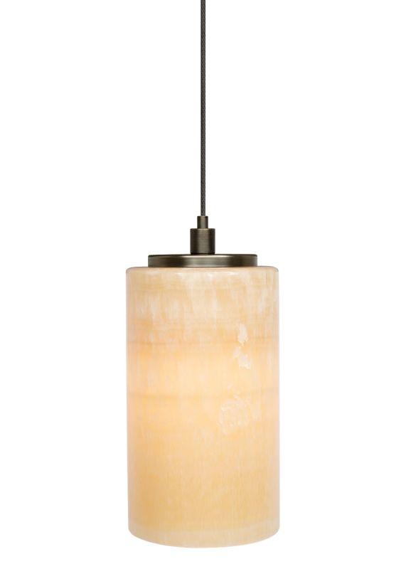 LBL Lighting Onyx Cylinder LED Monopoint 1 Light Track Pendant Satin