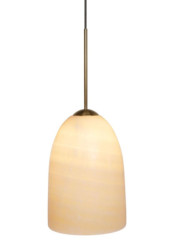 LBL Lighting Onyx Dome LED Monopoint 1 Light Track Pendant Satin