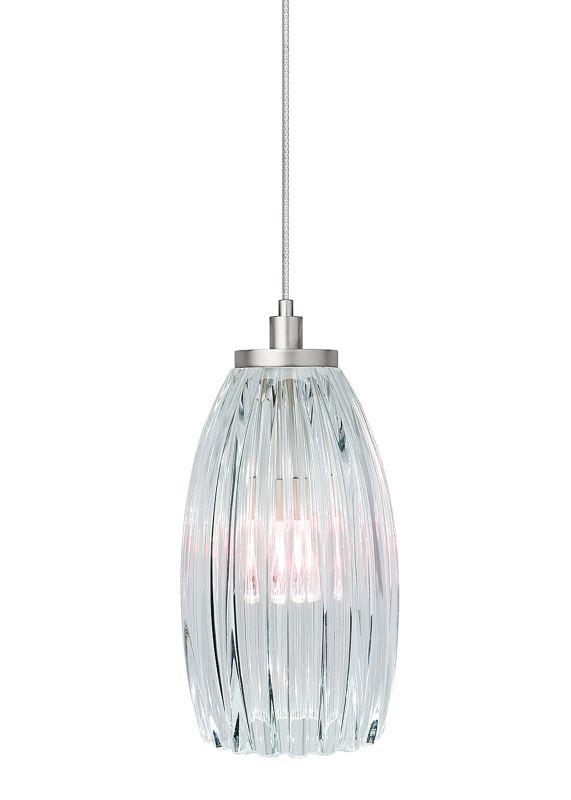 LBL Lighting Flute Clear Monopoint 1 Light Track Pendant Bronze Indoor
