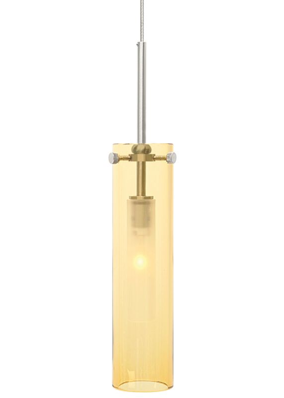 LBL Lighting Top-SI Coax Amber Monopoint 1 Light Track Pendant Satin