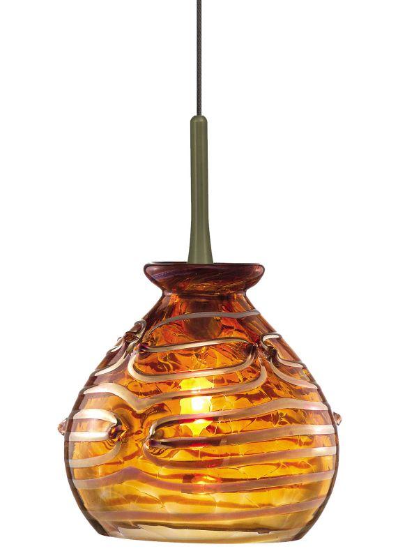 LBL Lighting Gelato Amber Fusion Jack 1 Light Track Pendant Bronze