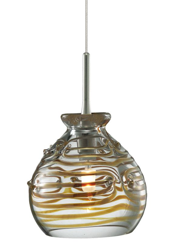 LBL Lighting Gelato Clear Fusion Jack 1 Light Track Pendant Satin