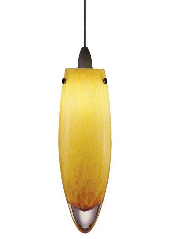 LBL Lighting Icicle Amber LED Monorail 1 Light Track Pendant Bronze