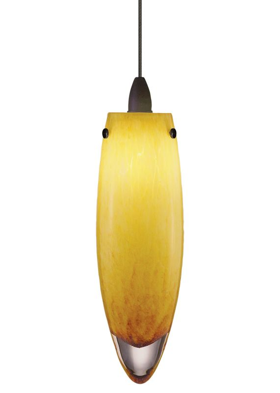LBL Lighting Icicle Amber LED Monopoint 1 Light Track Pendant Satin