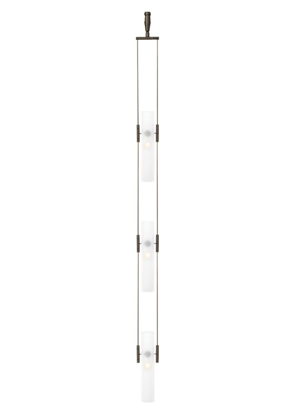 LBL Lighting Tube 3 Monopoint 3 Light Track Pendant Satin Nickel