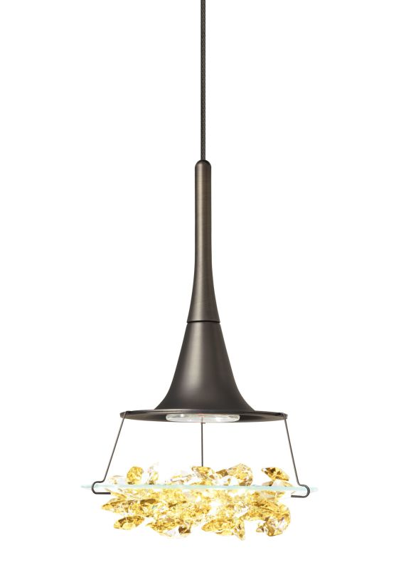 LBL Lighting Vision Amber Monopoint 1 Light Track Pendant Bronze