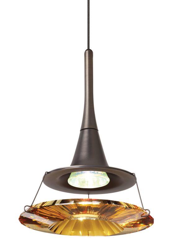 LBL Lighting Dimensions Amber Fusion Jack 1 Light Track Pendant Bronze