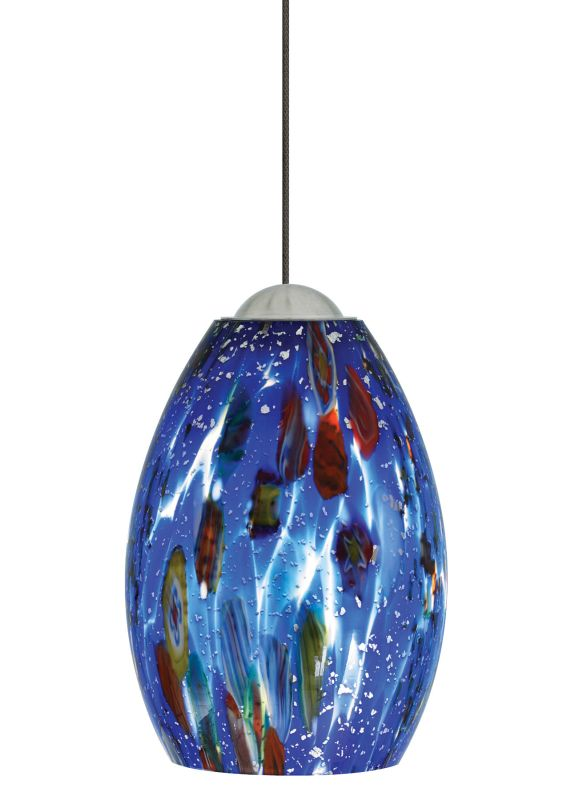 LBL Lighting Mini-Monty Blue LED Monopoint 1 Light Track Pendant