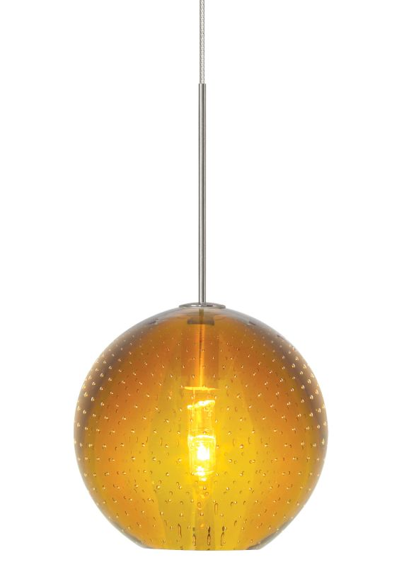 LBL Lighting Bulle Amber Fusion Jack 1 Light Track Pendant Bronze