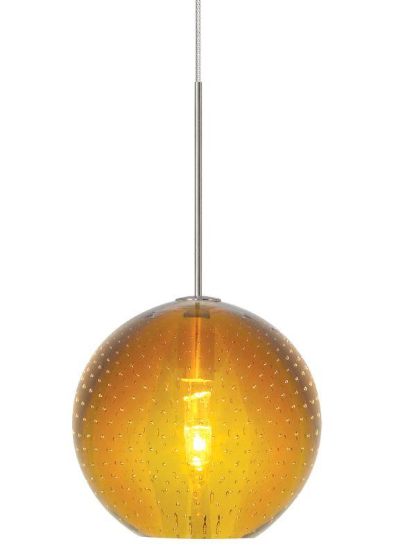 LBL Lighting Bulle Amber Monopoint 1 Light Track Pendant Bronze Indoor