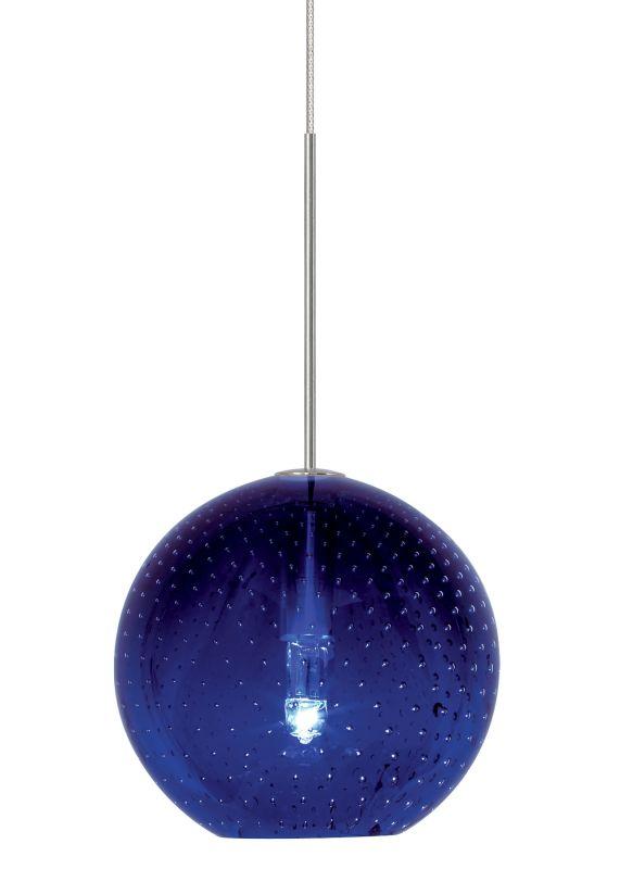 LBL Lighting Bulle Blue Monopoint 1 Light Track Pendant Bronze Indoor