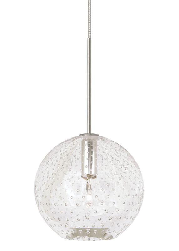 LBL Lighting Bulle Clear Monopoint 1 Light Track Pendant Bronze Indoor