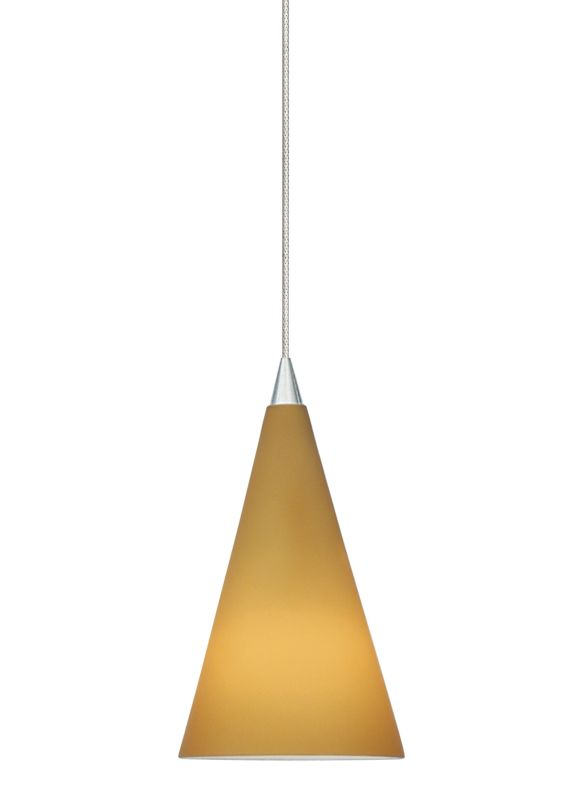 LBL Lighting Cone III Amber LED Monopoint 1 Light Track Pendant Satin