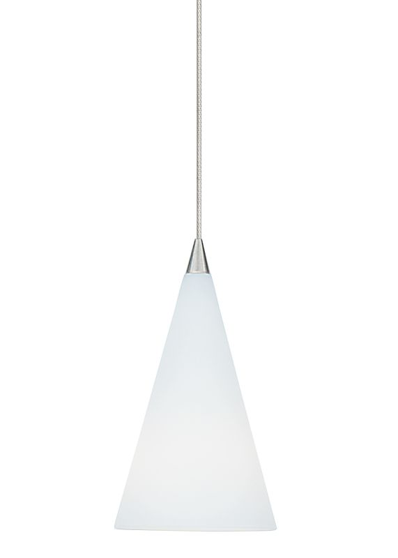 LBL Lighting Cone III Opal Xenon Monopoint 1 Light Track Pendant Satin
