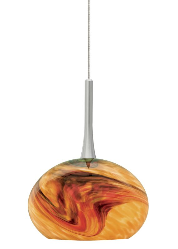 LBL Lighting Neptune I Amber LED Monopoint 1 Light Track Pendant