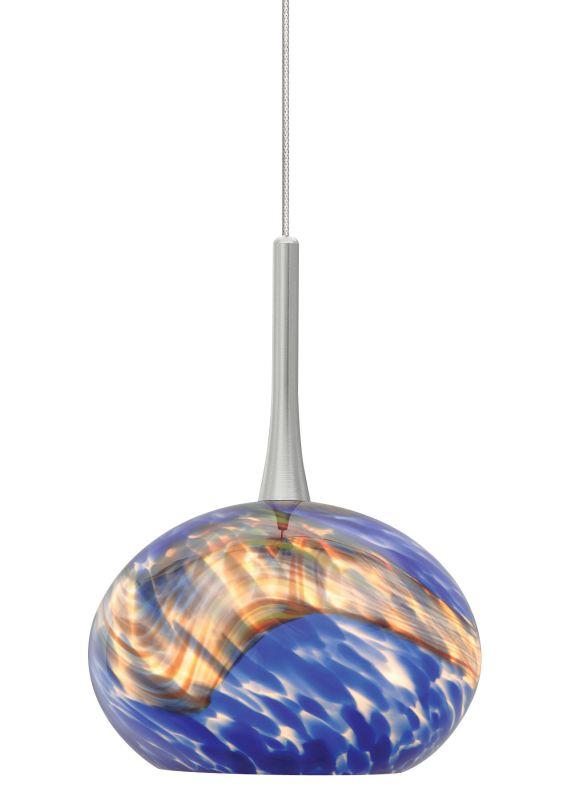 LBL Lighting Neptune I Blue Fusion Jack 1 Light Track Pendant Satin