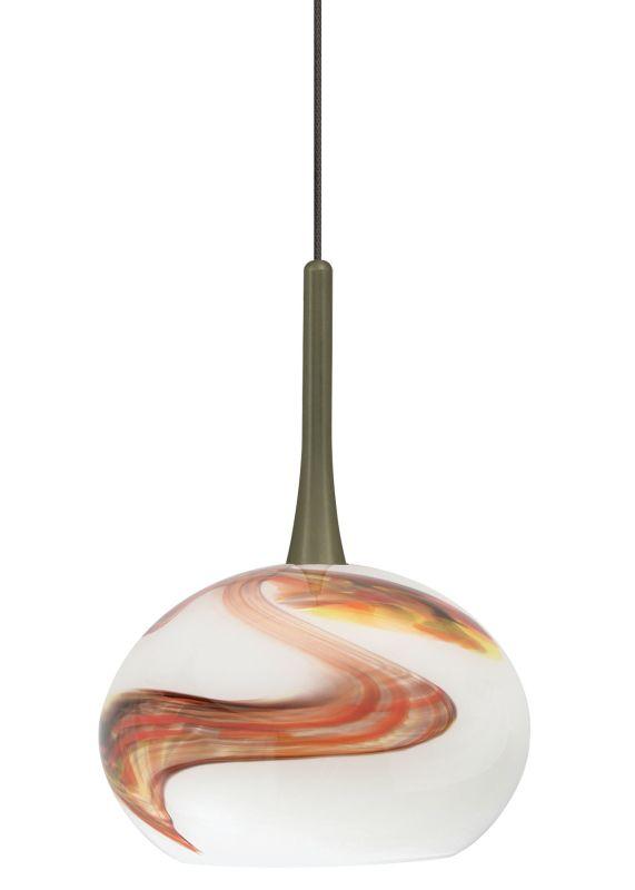 LBL Lighting Neptune I Opal LED Monopoint 1 Light Track Pendant Bronze