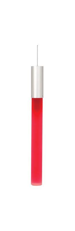 LBL Lighting Neutron Red Frost Monopoint 1 Light Track Pendant Satin