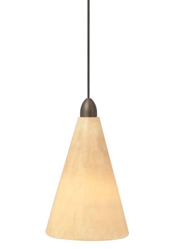 LBL Lighting Onyx Cone Monorail 1 Light Track Pendant Satin Nickel