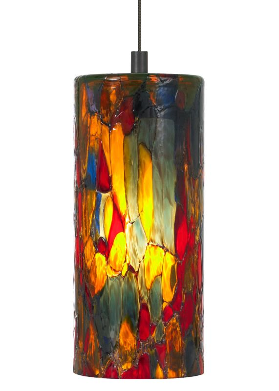 LBL Lighting Abbey Blue-Amber-Red 50W Monopoint 1 Light Track Pendant