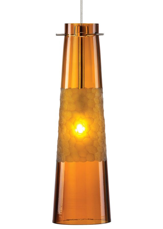 LBL Lighting Bonn Amber Monopoint 1 Light Track Pendant Bronze Indoor