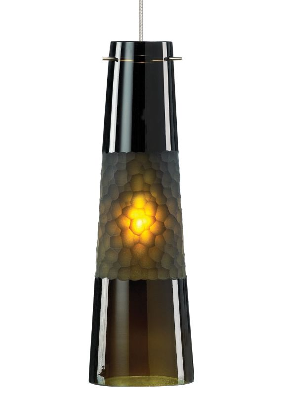 LBL Lighting Bonn Olive Green LED Monopoint 1 Light Track Pendant