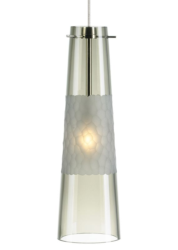 LBL Lighting Bonn Smoke 50W Monorail 1 Light Mini Pendant Satin Nickel Sale $272.80 ITEM#: 2040419 MODEL# :HS461SMSC1B50MRL :