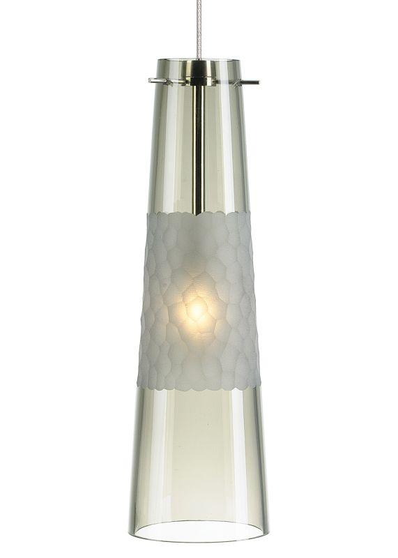 LBL Lighting Bonn LED Smoke 6W Monopoint 1 Light Mini Pendant Satin