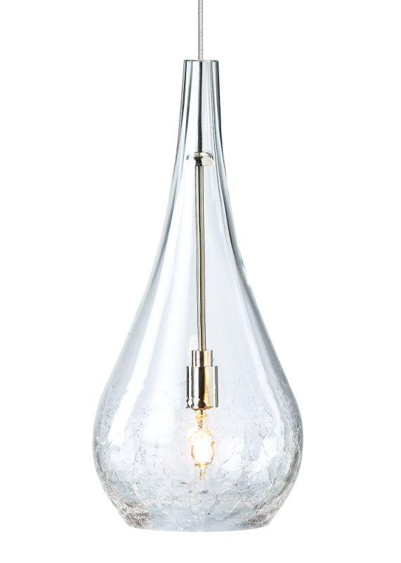 LBL Lighting Seguro Clear Monopoint 1 Light Track Pendant Satin Nickel