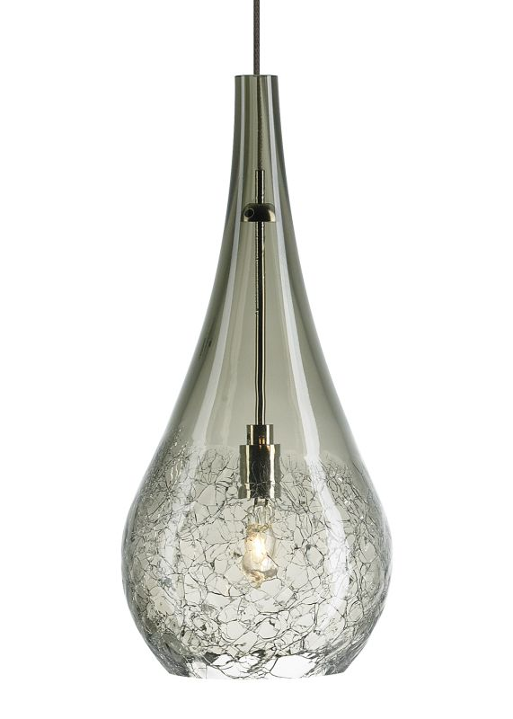 LBL Lighting Seguro Smoke 35W Fusion Jack 1 Light Mini Pendant Bronze
