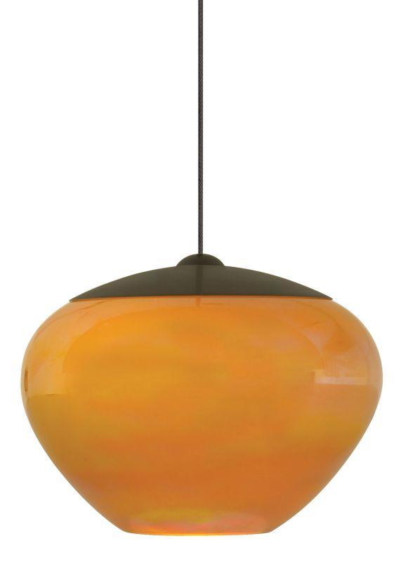 LBL Lighting Cylia Amber LED Monopoint 1 Light Track Pendant Bronze