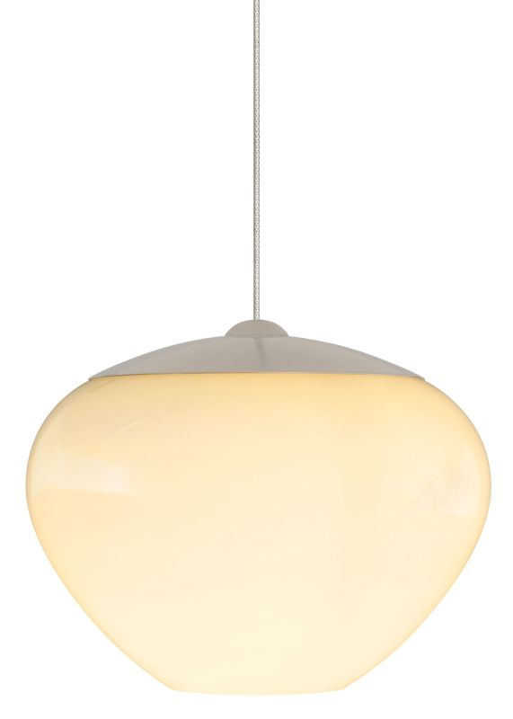 LBL Lighting Cylia Opal 50W Monopoint 1 Light Track Pendant Satin