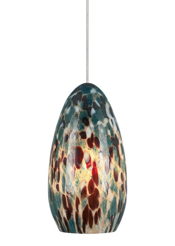 LBL Lighting Banja Aquamarine LED Monopoint 1 Light Track Pendant