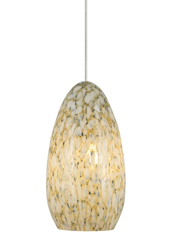 LBL Lighting Banja Ivory Opaque LED Monopoint 1 Light Track Pendant