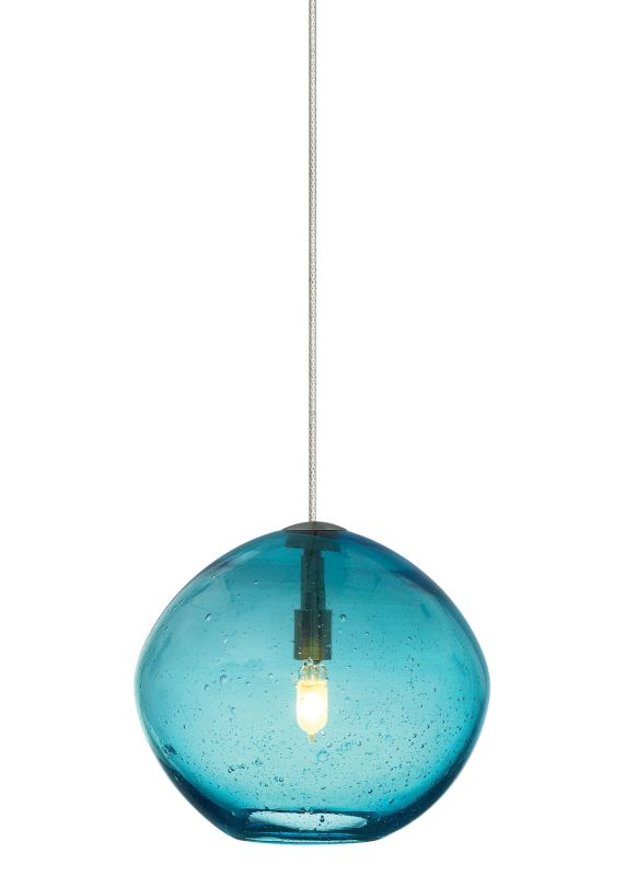 LBL Lighting Mini-Isla Aqua 1 Light Mini-Isla Monopoint Pendant Satin