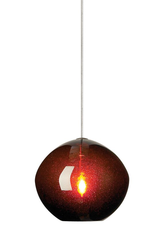 LBL Lighting Mini-Isla Brown 1 Light Mini-Isla Monopoint Pendant
