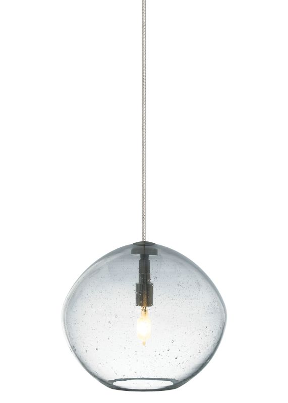 LBL Lighting Mini-Isla Clear 1 Light Mini-Isla Monopoint Pendant Satin