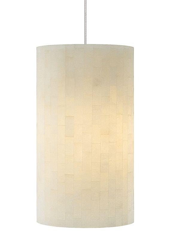 LBL Lighting Coliseum Opal 50W Monopoint 1 Light Track Pendant Satin
