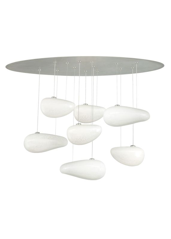 "LBL Lighting Constellation 26"" 7 Light Constellation Chandelier Satin"