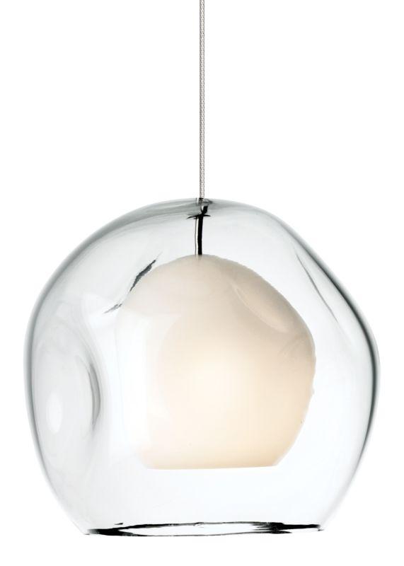 LBL Lighting Mini Jasper Clear 50W Monorail 1 Light Mini Pendant Satin