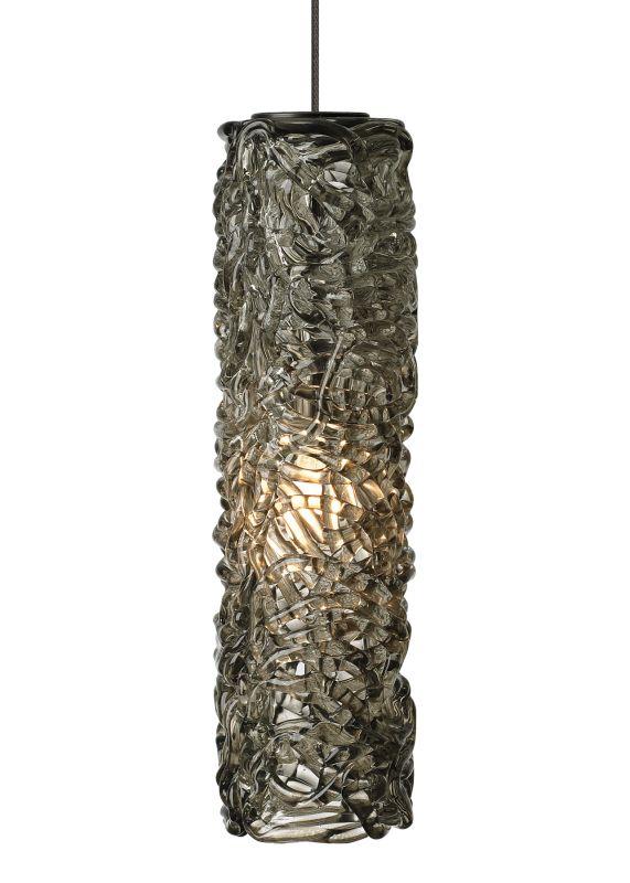 LBL Lighting Mini Isis LED Smoke 6W Monopoint 1 Light Mini Pendant