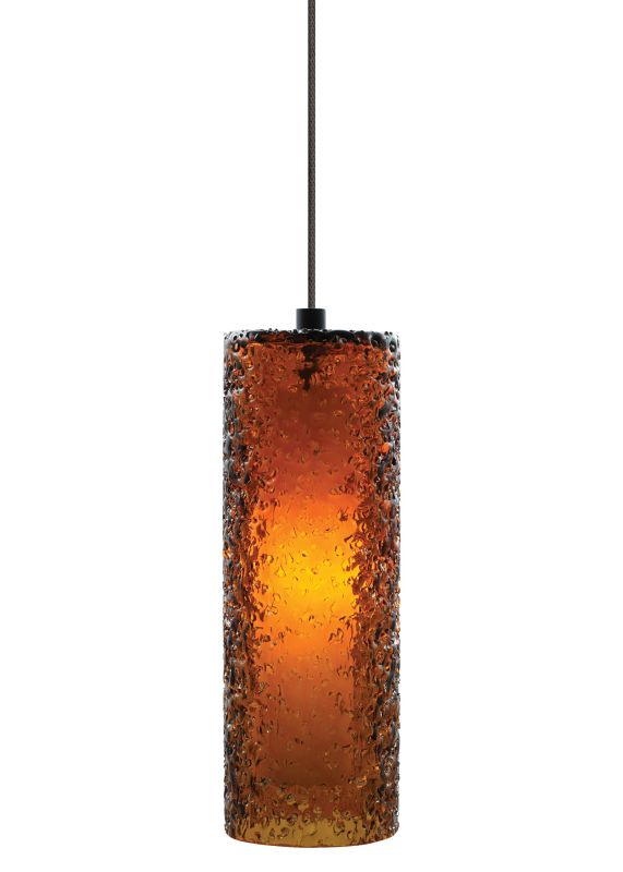 """LBL Lighting Mini Rock Candy C Dark Amber 50W Monorail 1 Light Mini Sale $285.60 ITEM#: 2040667 MODEL# :HS547AMBZ1BMRL LBL Lighting Mini Rock Candy C Dark Amber 50W Monorail 1 Light Mini Pendant Handmade from start to finish, this beautiful cylindrical Dark Amber Monorail pendant is created by talented craftspeople. Beginning with a mouth-blown transparent glass cylinder, the glass is then rolled in Dark Amber crystal frit, and finally flash heated to an extremely high temperature to create the unique texture on this stunning fixture. Enclosing a 50 watt xenon lamp creating a soft glow from the inside, this attractive fixture will add a sense of style to any home. LBL Lighting's Monorail is a versatile state-of-the-art track lighting system featuring hand bendable track in a variety of finishes to compliment any décor. The Monorail system is available in both ceiling mount or wall mount configurations for added flexibility. Monorail lighting pendants and heads are also compatible with LED Illuminated Monorail systems. LBL Lighting Mini Rock Candy C Dark Amber 50W Monorail Features: Track System: Monorail Pictured with Bronze finish Includes 72"""" of field-cuttable wire Cylinder shaped Dark Amber Mouth-Blown Glass shade LBL Lighting Mini Rock Candy C Dark Amber 50W Monorail Specifications: Includes (1) x 50 Watt GY6.35 Base Xenon Bulb Voltage: 12 Wattage: 50 Height: 10.2"""" Diameter: 3.6"""" Shade Height: 10.2"""" Shade Width: 3.6"""" Maximum Overall Height: 82.2"""" Compatibility: Monorail and LED Illuminated Monorail UL Listed for Dry Location LBL Lighting Mini Rock Candy C Dark Amber 50W Monorail Lamping Specifications: Rated Hours: 10000 CRI: 100 Color Temperature: 2900K Lumens: 750 For 38 years, LBL Lighting has built their business on trust. Since its inception as a family business in 1971 LBL Lighting has continued to be one of the recognized leaders of the lighting industry and a premier choice for lighting designers throughout North America. Developed with beauty, originali"""