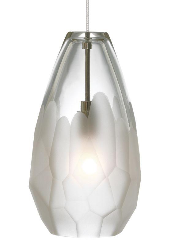 LBL Lighting Briolette LED Frost 6W Fusion Jack 1 Light Mini Pendant