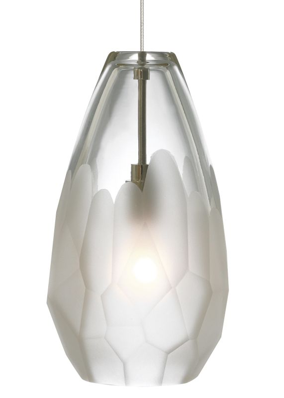 LBL Lighting Briolette Frost 50W Monopoint 1 Light Mini Pendant Satin
