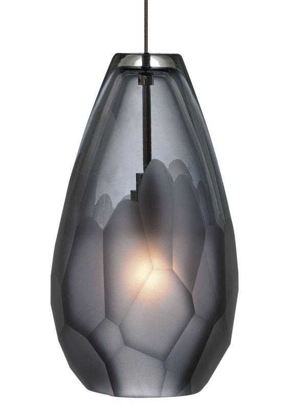 LBL Lighting Briolette LED Smoke 6W Fusion Jack 1 Light Mini Pendant