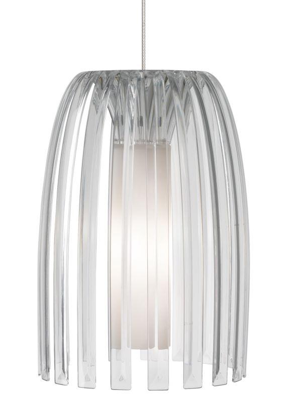 LBL Lighting Mini Olivia Clear 50W Monopoint 1 Light Pendant Satin