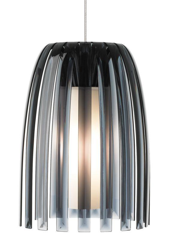 LBL Lighting Mini Olivia Smoke 50W Fusion Jack 1 Light Pendant Satin